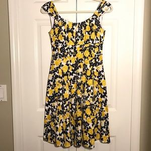 London Times fit and flare floral dress